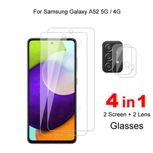 For Samsung Galaxy A52 5G / 4G Camera Lens Film & Protective Glass Screen Protector Tempered Glass Guard