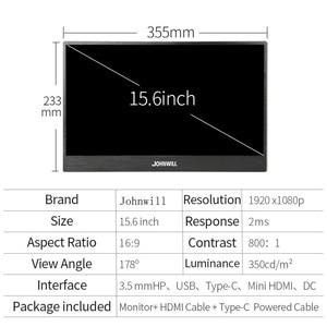 Image 5 - 15.6 인치 USB Type C HDMI 1920x1080 휴대용 HD 디스플레이 노트북 전화 XBOX360 스위치 PS4 LCD 게임 모니터 Pc 케이스