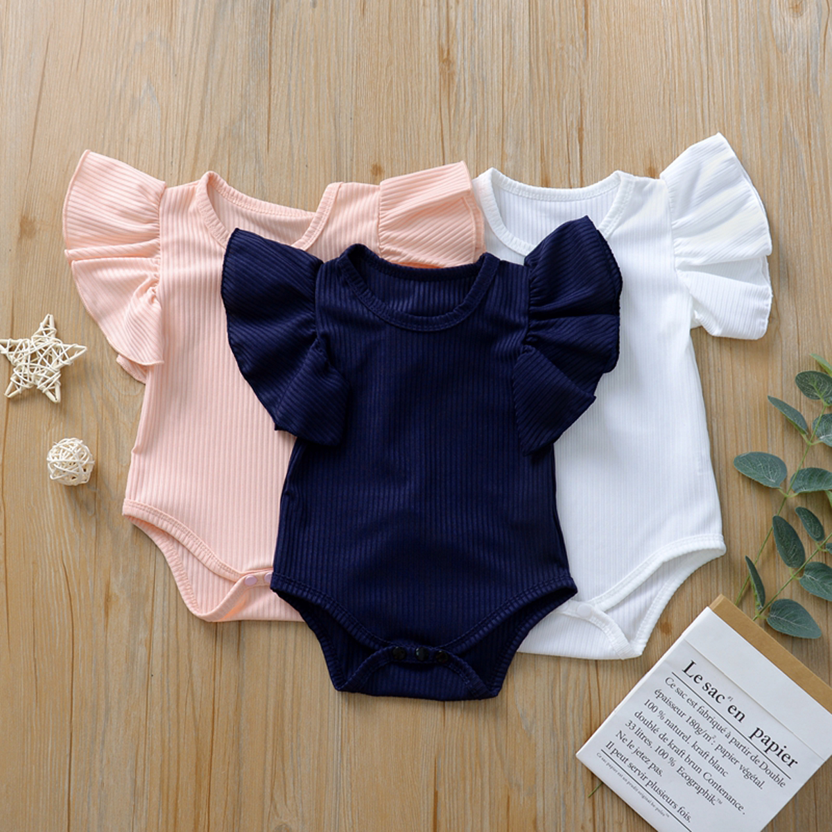 Newborn Infant Baby Girl 0-18M Cotton Romper Jumpsuit Short Sleeve Summer Clothes Outift Clothing