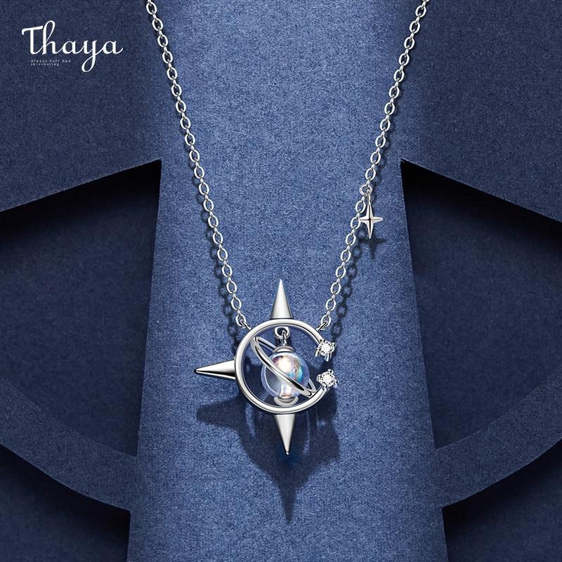 Original Design Brand Vintage Necklace 45cm Plated Pendant Crystal