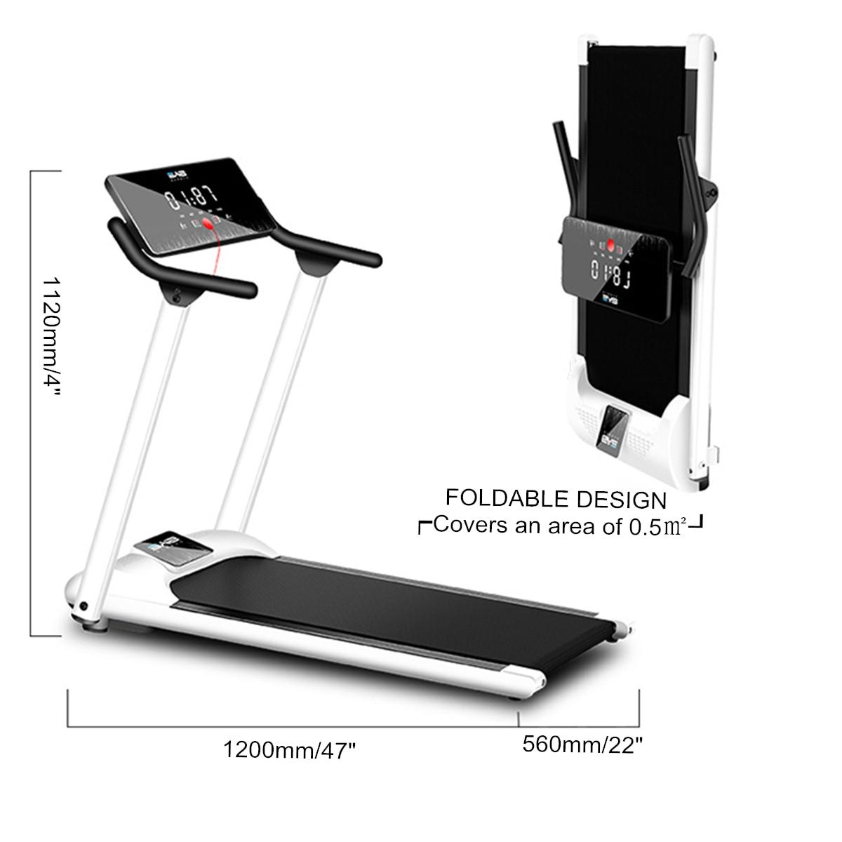 Multifunction Treadmill Folding Adjustable Running Machine Digital LCD Twisting Plate Sit-up Cardio Home Gym Fitness Equipment