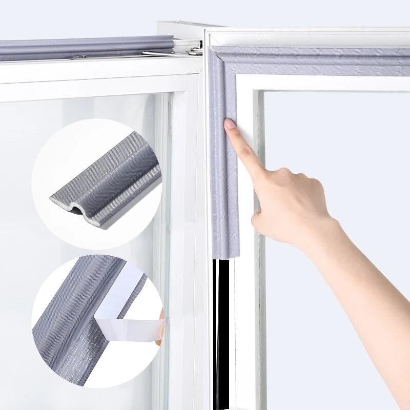 4M samoprzylepne uszczelka do okien i drzwi pasek mus akustyczna pianka dźwiękochłonna taśma uszczelniająca rozpraszanie pogody wypełniacz do szczelin okucia okienne