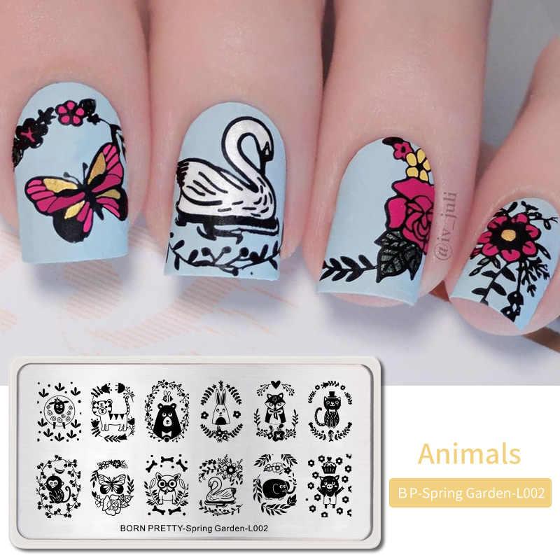 Animali A Tema Del Chiodo Che Timbra Piatti Timbro Piatto Template Unghie artistiche del Cane Del Gatto Leopardo Zebra Immagine di Design FAI DA TE di Design FAI DA TE