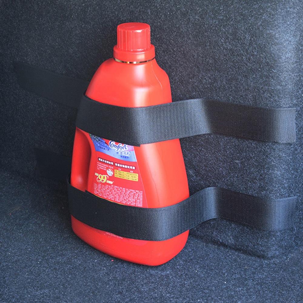 Adesivo extintor de incêndio de carro 4 pçs/set, adesivo de nylon, bandagem para porta-malas de carro, armazenamento de fita mágica, gancho e laço adesivos da alça