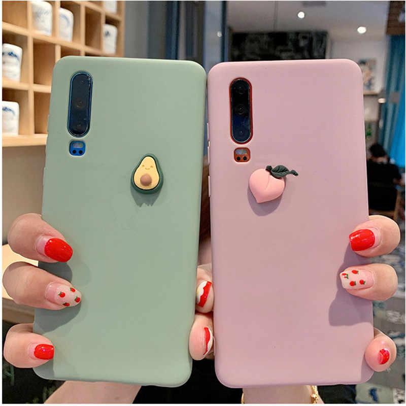 Милый мягкий силиконовый чехол для телефона с фруктами huawei P30 Lite P20 pro P10 Y5 2018 Y7 Y6 2019