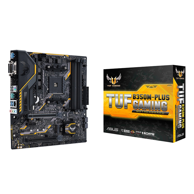 ASUS TUF B350M-PLUS GAMING Supports AM4 Desktop Computer Game Board