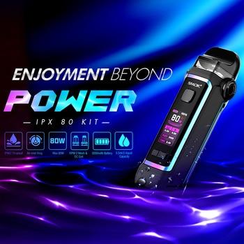 SMOK – Kit de vapoteur de Cigarette électronique IPX 80, 80W, batterie intégrée de 3000mAh, 5.5ml tr/min, 2 dosettes