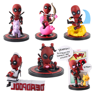 Deadpool Mini jajka ataku serii MEA001 ~ 006 pcv Action figurka – model kolekcjonerski zabawka dekoracja samochodu lalki