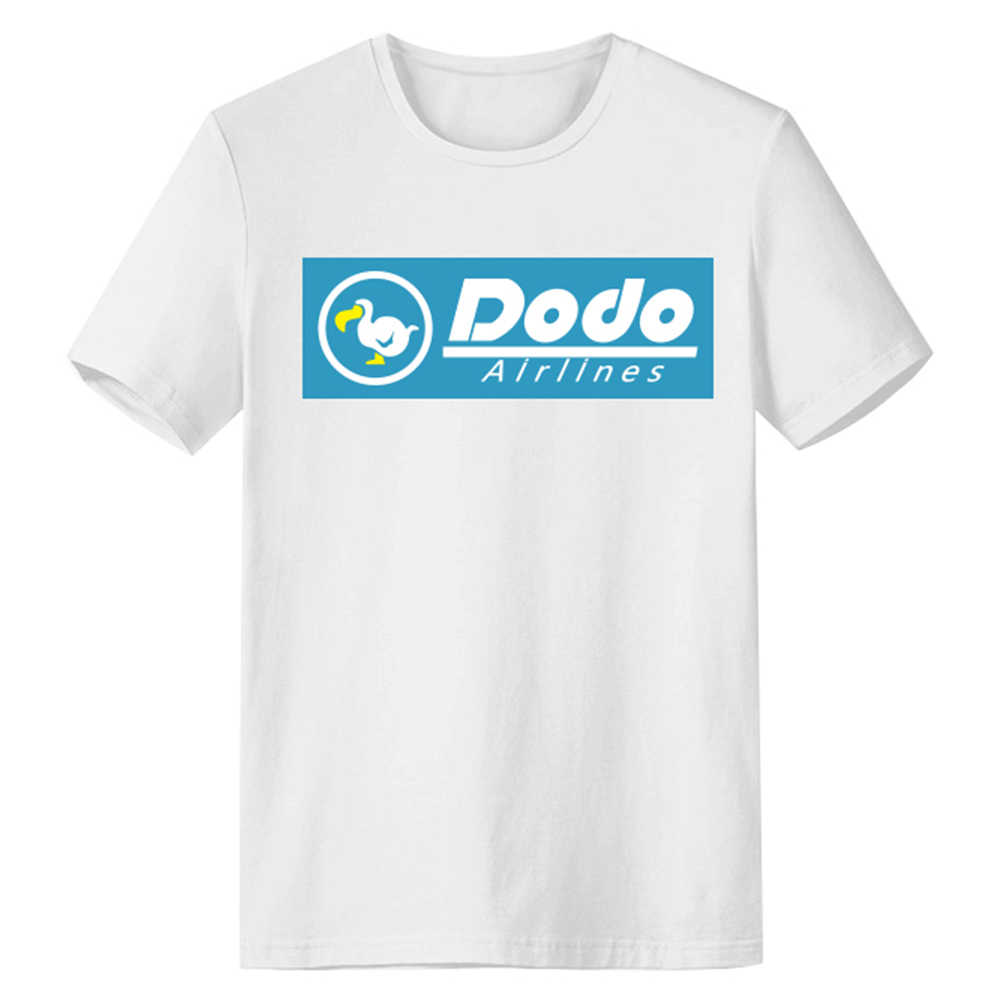 Tier Cosplay Crossing T-Shirt Weiß Dodo Airlines Logo Männer Sommer O Neck Casual Baumwolle T Shirt Graphic Tee