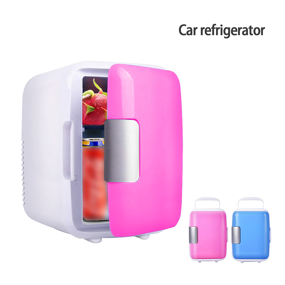 Mini Refrigerators Dual-Use 4L Home Use Refrigerator Electric Portable Fridge Freezer Cool Warmer Dormitory Cans Beer Cooler