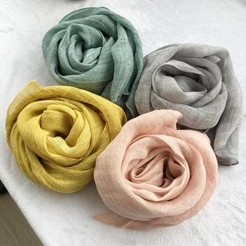 Unisex Style spring summer autumn winter Scarf Cotton And Linen Solid Color long women's scarves shawl fashion men scarf цена 2017