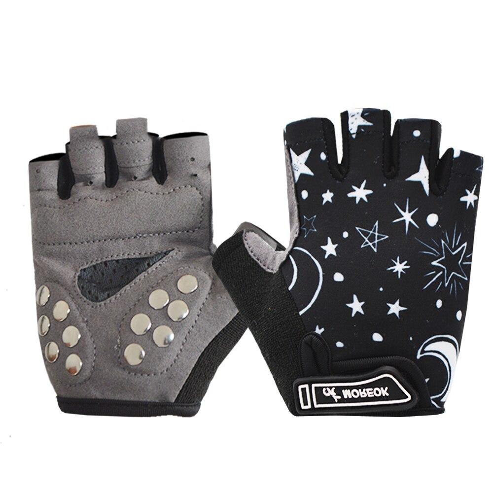 MOREOK Breathable Protective Nail Palm Children Gloves  Anti-slip Kids Balance Bike Cycling Skating Gloves For Boys Girls