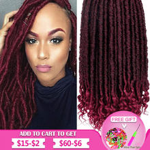 Crochet Faux Locs Hair 20 Inch Synthetic Goddess Locks Dreadlocks Hair Extensions Ombre Passion Twist Braiding Hair(China)