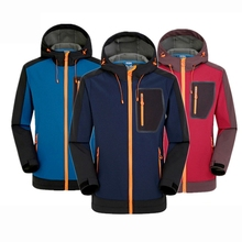 Men Softshell Jacket Windproof Waterproof Jacket Mens Soft Shell Windbreaker Rain Coat Outdoor Trekking Hiking Fishing Jackets