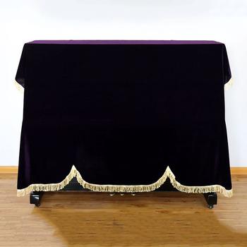 1 sztuk fortepian kurz pokrywa stołek Pleuche pyłoszczelna domu Texile złota aksamitna narzuta akcesoria fortepianowe grube narzuta na pianino tanie i dobre opinie Poliester bawełna Nowa klasyczna po nowoczesne