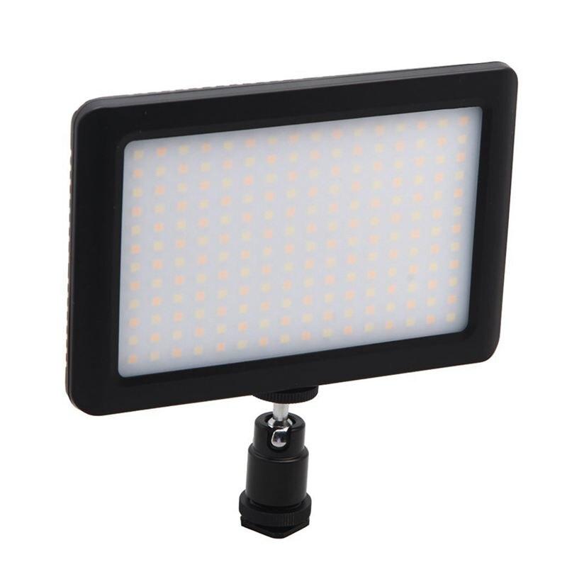 12W 192 LED de vídeo de estudio lámpara de luz continua para cámara DV videocámara negro