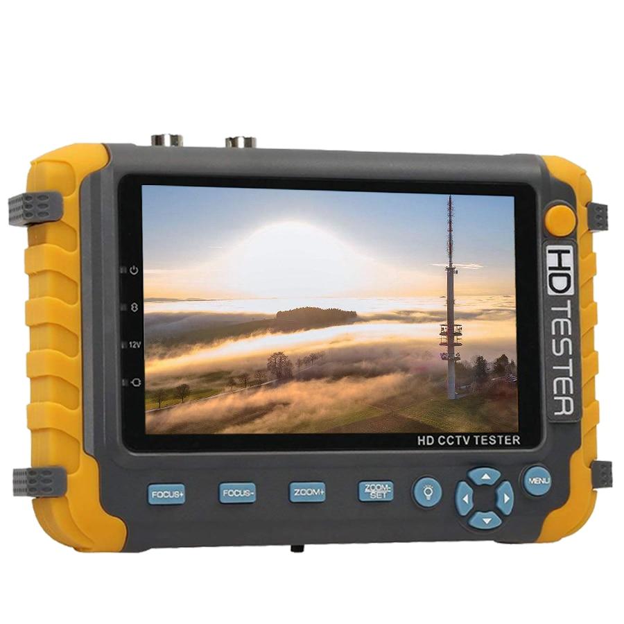 Image 4 - 5 بوصة TFT LCD 1080P 5MP 4MP 4 في 1 TVI العهد السيدا النظير CCTV تستر الأمن فاحص الكاميرا رصد HDMI المدخلات الصوت اختبارشاشة عرض ومراقبة CCTV   -