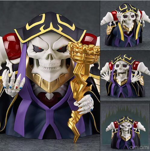 10cm Overlord Ainz OOal Gown New 631# Doll Cartoon Anime Action Figure PVC Toys Collection Figures For Friend Gift
