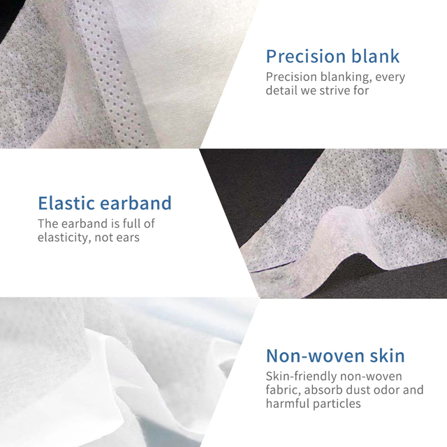 50pcs Disposable 3 Layer Filter Children Mouth Face Mask Dust PM2.5 Masks Breathable Anti-dust Virus Flu Protective Masks 3