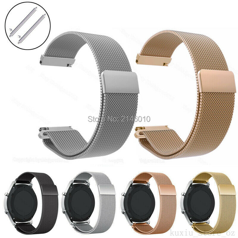 18mm Mesh Magnetic Milanese Loop Watch Band Wrist Strap For Fossil Q Tailor