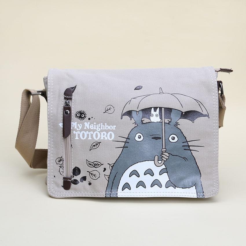 Anime My Neighbor Totoro Figure Cartoon Manga Canvas Messenger Bag 31*26CM