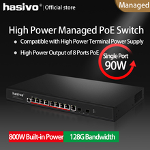 Hi Power PoE managed switch with 4x90W PoE Gigabit port 4x30W PoE Gigabit port suitale for Hi power camera and devices power transmission capability improvement by power devices