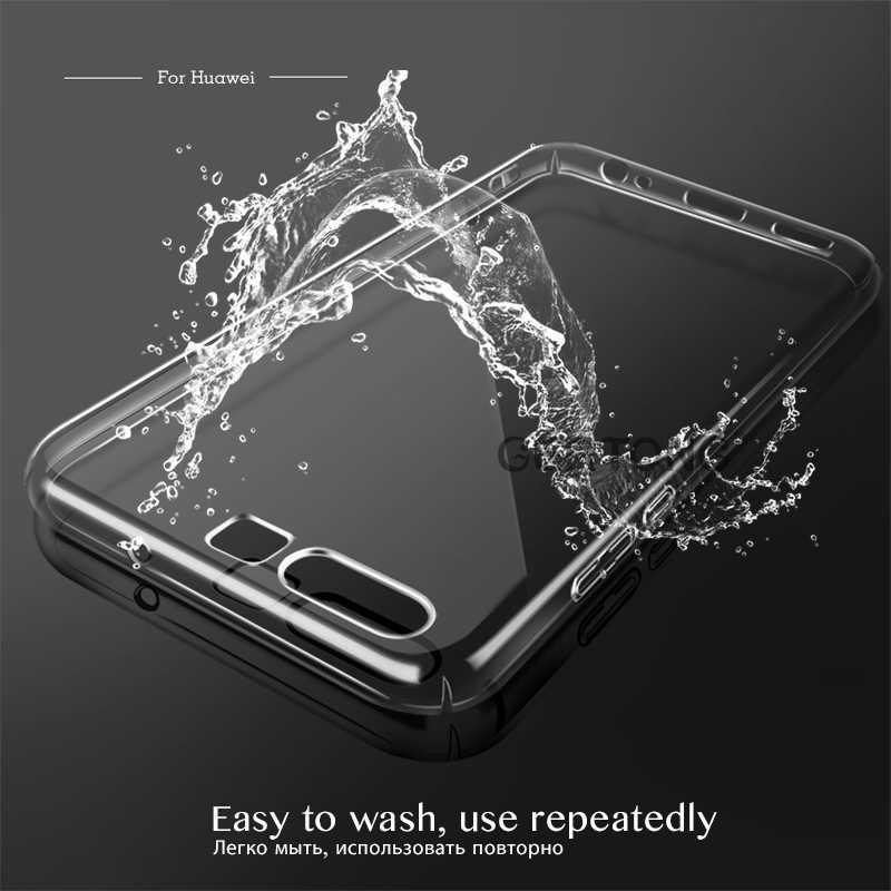 Telefon geri kılıfları Huawei P10/P10 Lite/P10 artı silikon kapak ince ince şeffaf darbeye yumuşak TPU p10Lite P10Plus