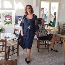Elegant Royal Blue Mother of the Bride Dresses 2019 Mermaid Long Wedding Events Party Prom Dresses Long Sleeve Zipper
