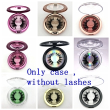 Mikiwi Custom Packaging 10pcs Plastic Round Case With Tray Wholesale Mink Lashes Private Label Logo Packing Box Empty Case