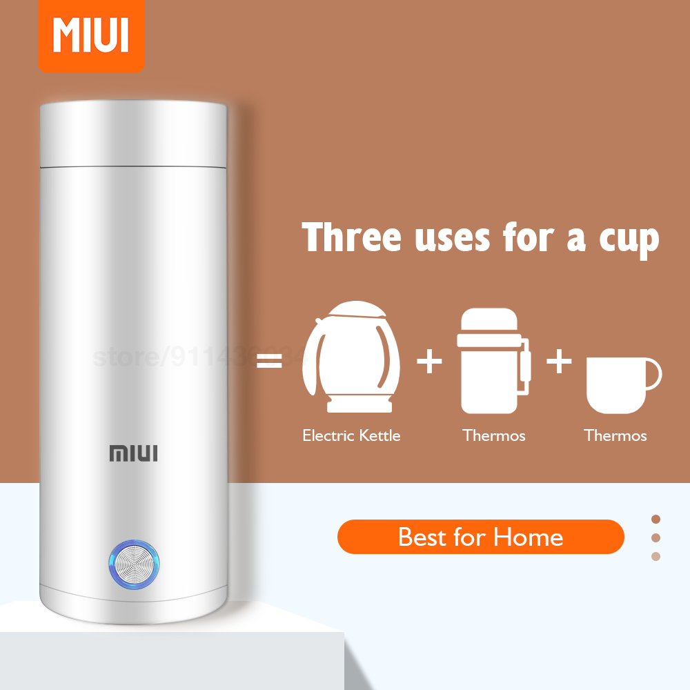 MIUI Portable Electric Kettles 400ml Thermal Cup Make Tea Coffee Travel Boil Water Keep Warm Smart Kettle Kitchen Appliances