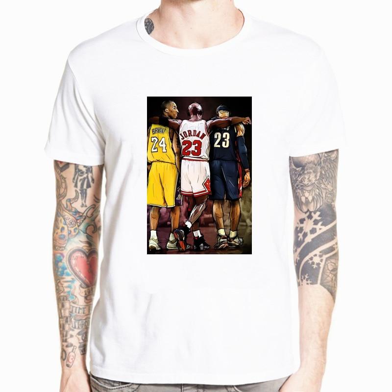 Kobe Bryant Lebron James Tshirt Fashion New T-Shirt Funny Harajuku T-shirt Streetwear High Quality Men Tshirt