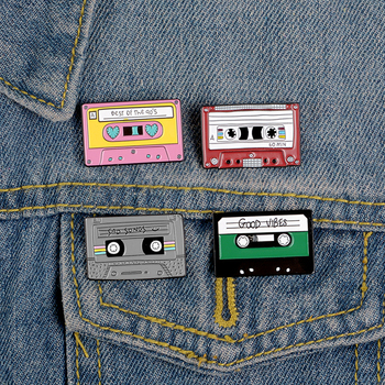 Эмали штырь милый лента с рисунками Брошь для женщин музыкальный компакт-диск штифты Металлические Значки японская шпилька брошь для Женская Брошь с лацканами сосны, брошь для ювелирных изделий
