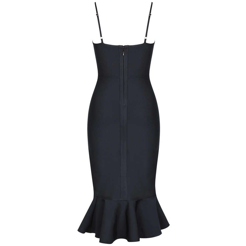 Женское Бандажное платье Ocstrade, черное облегающее платье с русалочкой, вечерние платья, лето 2020