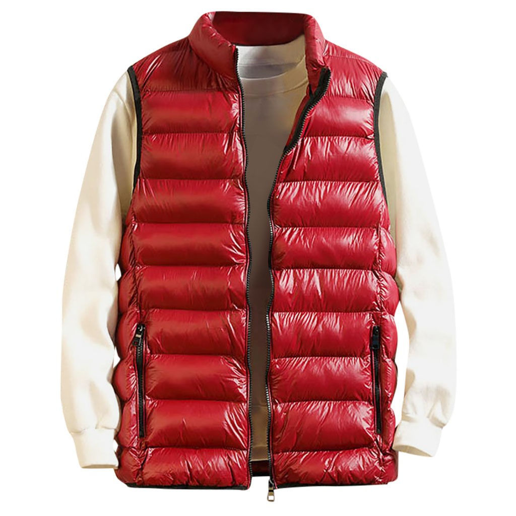 Outwear Jacket Down-Coat Vest Winter Warm Autumn Fashion Zipper Men's  title=