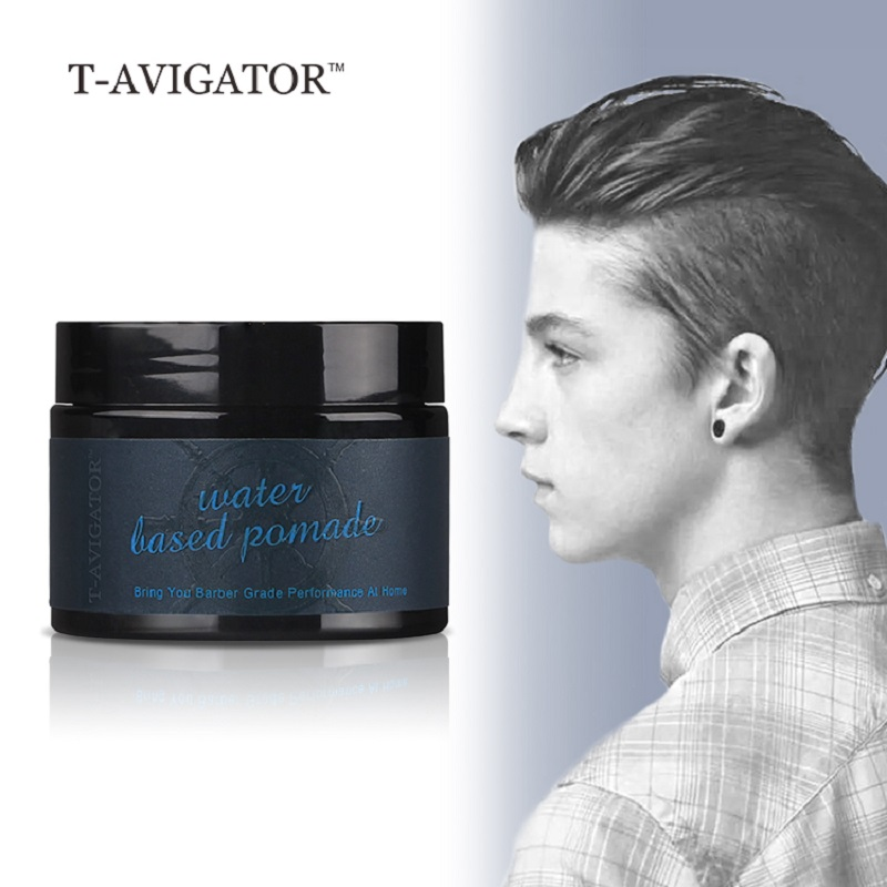 Купить с кэшбэком Strong Style Restoring Pomade Hair Wax Skeleton Cream Natural Organic Slicked Oil Mud Keep Hair Styling for Men