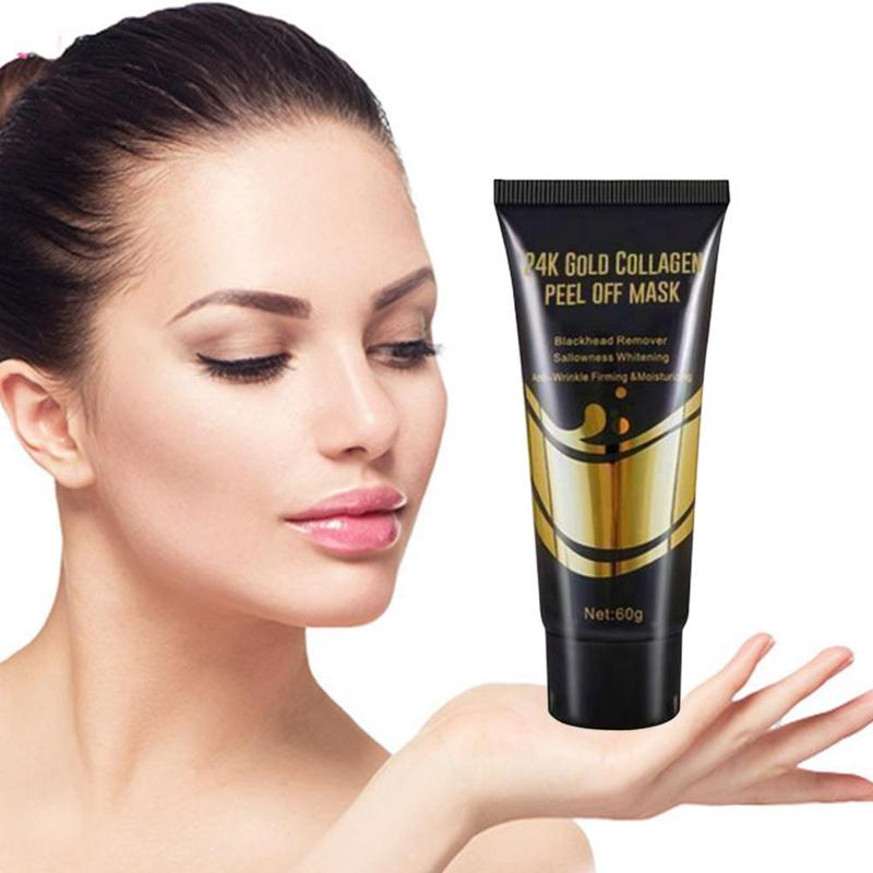 60/120g 24k Gold Collagen Peel Off Mask Facial Gold Face Facial Mask Anti Aging Whitening Wrinkle Lifting Firming Skin Care