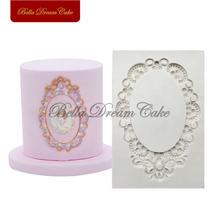 Алмазная рамка силиконовая форма декор кекса формы для помадки