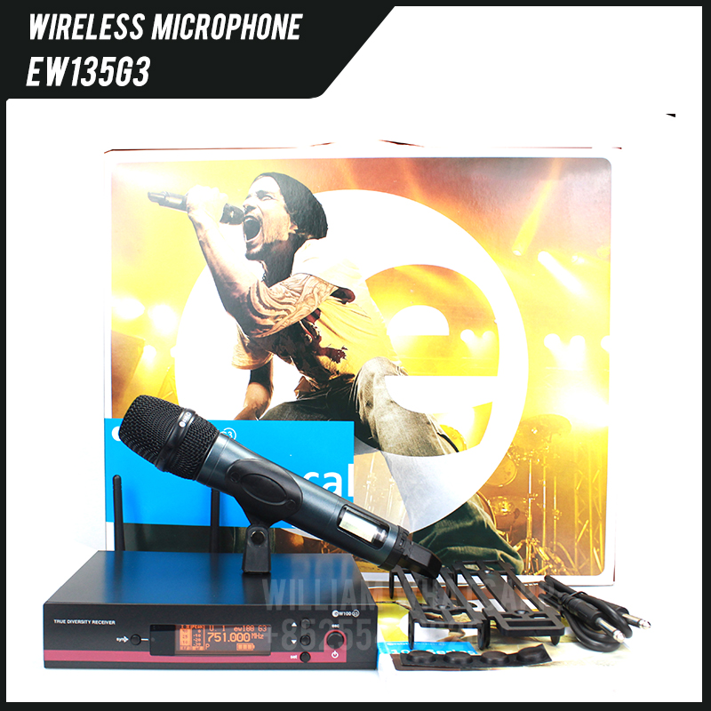 Free Shipping!! Hotsale EW135g3 EW100 G3 Wireless Microphone System, With E835 Handheld Microphone, EW135 G3 EW100G3 EW 135 G3