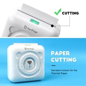 Image 2 - Peripage Mini kieszeń drukarka fotograficzna przenośna drukarka termiczna zdjęcia Bluetooth USB na telefon komórkowy Android iOS telefon PC A6