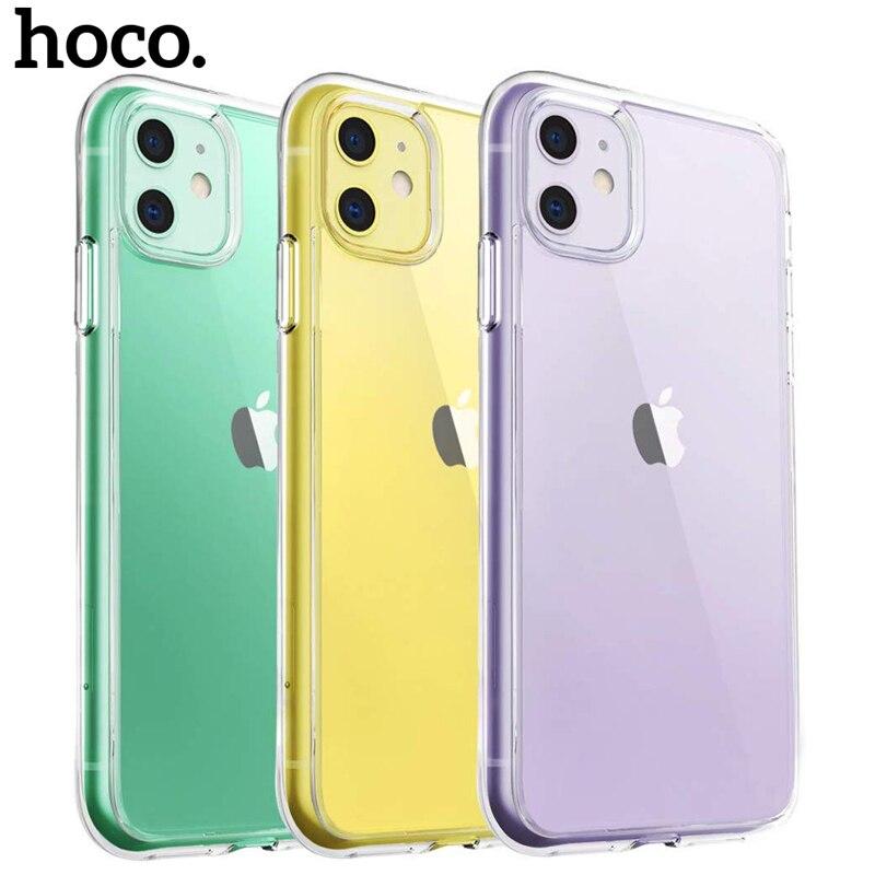 HOCO Ultra mince étui pour iPhone Transparent 11 Pro Max sur iPhone X XS XR couverture souple Silicone étui de protection pour iPhone XS Max