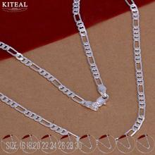 4MM 16  30  Three one Silver Chain Wholesale 925 Jewelry Silver Plated Necklace Pendant