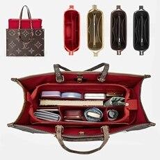 2020 Fits For Onthego Felt Cloth Insert Bag Organizer Makeup Handbag Shaper On The Go Organizer Portable Cosmetic Bags