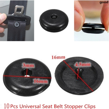 Car Retainer Seatbelt Stop Button for BMW E46 E90 E60 E39 E36 F30 F10 F20 X5 E70 E53 E30 M E87 G30 E92 E91 Ford Mondeo mk4 image
