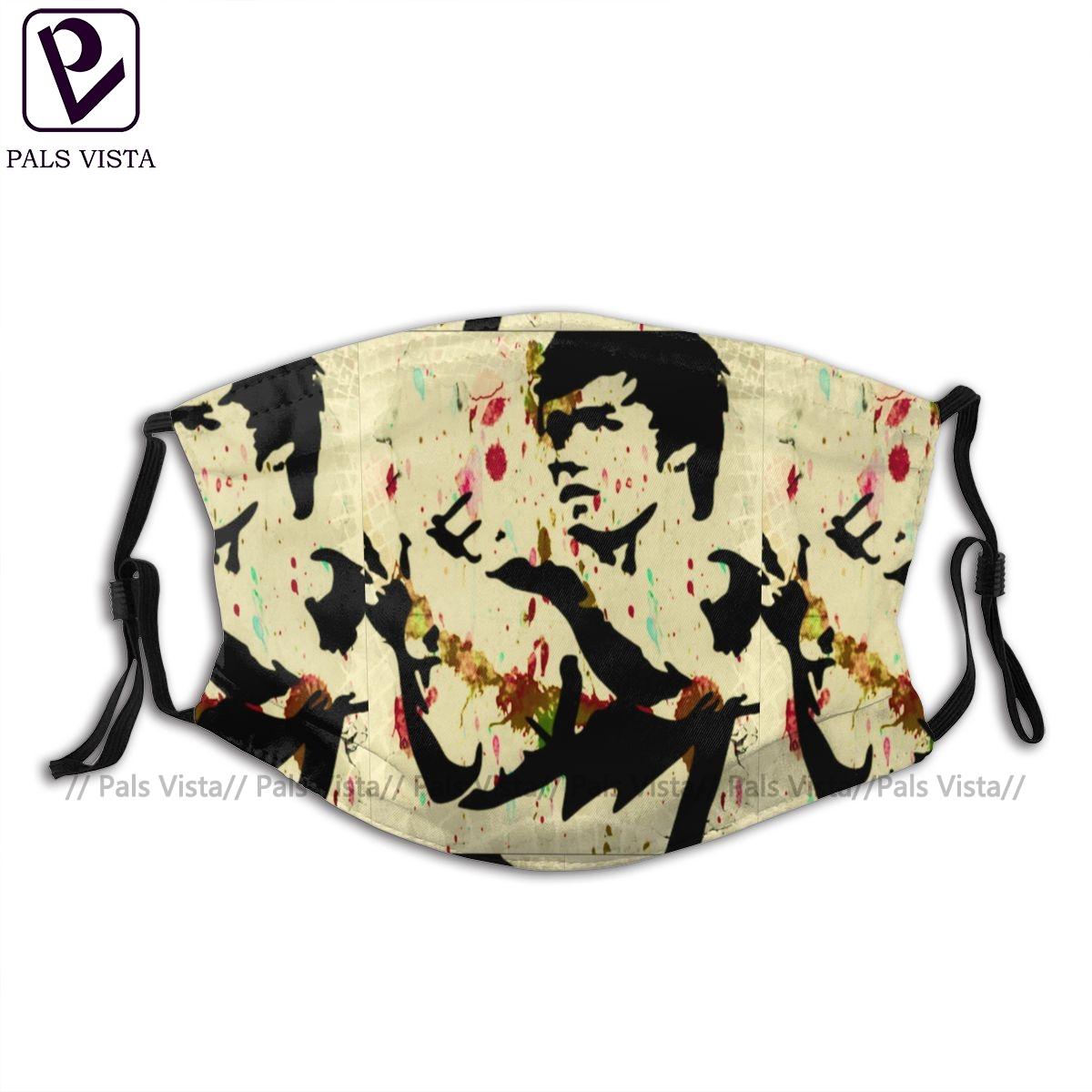 Bruce Lee Mouth Face Mask Bruce Lee Facial Mask Cool Fashion With 2 Filters For Adult