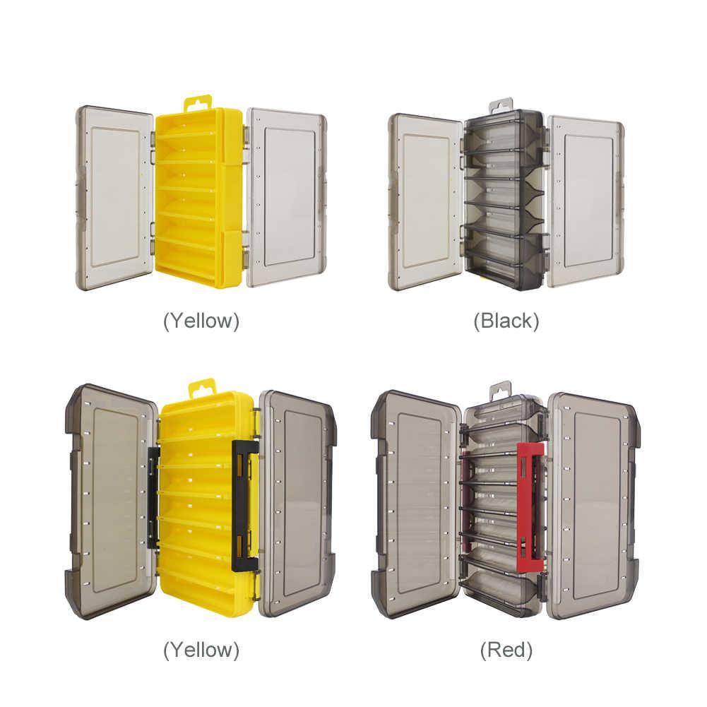 Dua Sisi Kotak Peralatan Memancing 14 Kompartemen Penyimpanan Kotak Kotak Memancing Umpan Umpan Hook Penyimpanan Kotak Case