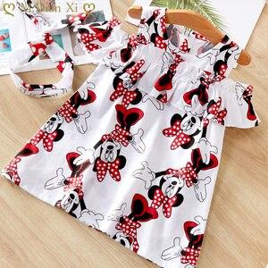 2020 New Fashion Baby Girls Dress Summer Dress Cartoon Minnie Mouse Dress Princess Dress Children's Girl Clothing 1-6 Years(China)
