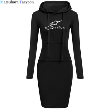 2020 Wome Dress Style Print Star Deep hooded Sexy Dress Women Drift Camisetas Bodycon Dresses 1