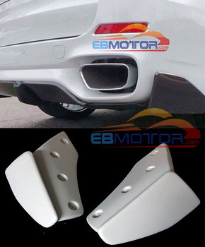 PAINTED Rear Lip Splitter Rear Side Valences 1 Pair For BMW F15 X5 M-Sport Bumper 2014UP B362F