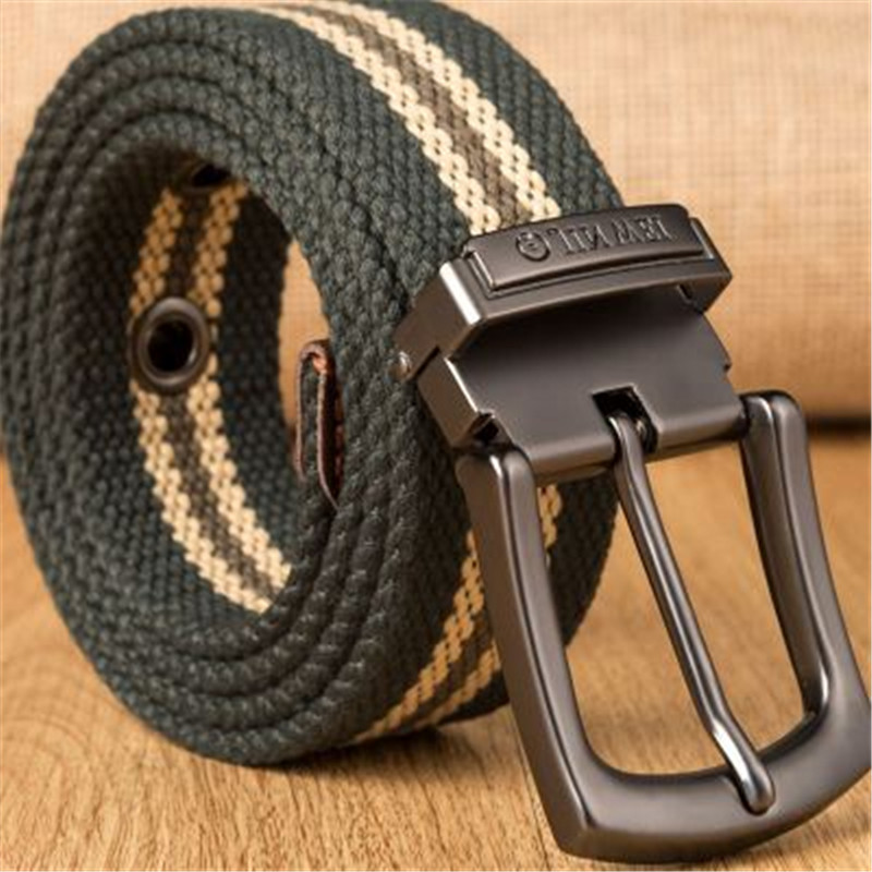 2019 Mens Tactical Waist Belt Weave Canvas Belt Men Military Workout Casual Jeans Brand Belt Young Student Needle Buckle-Belt