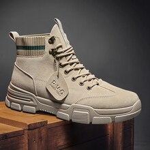 Осенне-зимние модные популярные мужские ботинки, сапоги для инструментов, мотоциклетные ботинки, Мужская обувь в стиле ретро, трендовая обу...
